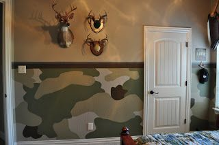 Painting and Design by Celeste: The camo room Will's room!