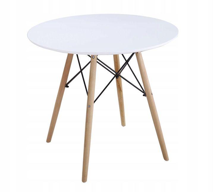 Stół Okrągły 80 Cm Nowoczesny Design Milano Poddasze