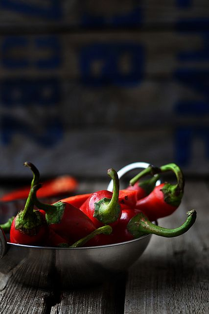 food | photography | still life | color | contrast | texture | red chili pepper