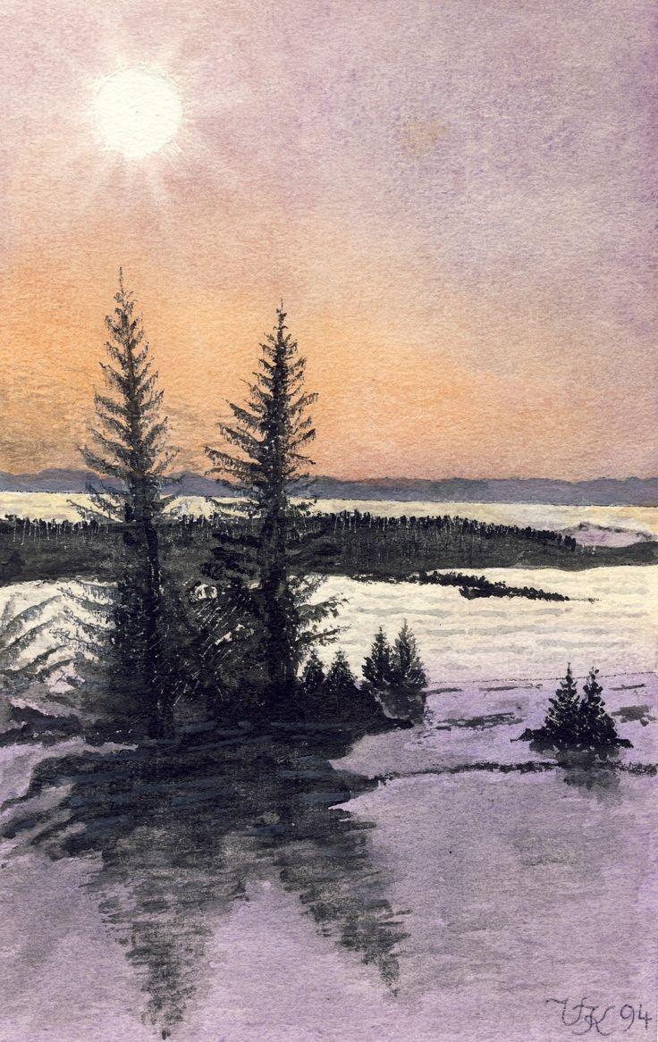 winterliche Landschaft, U. Kretschmer