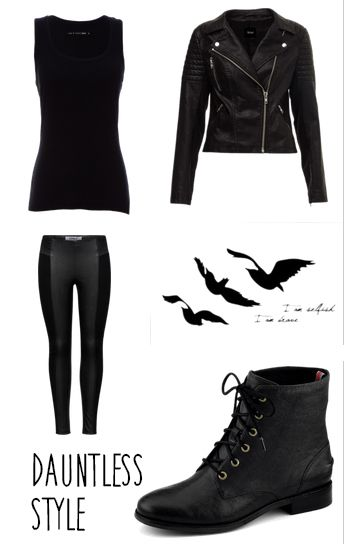 "Divergent ""Dauntless"" Cosplay from Divergent. Simple, black, and movable"