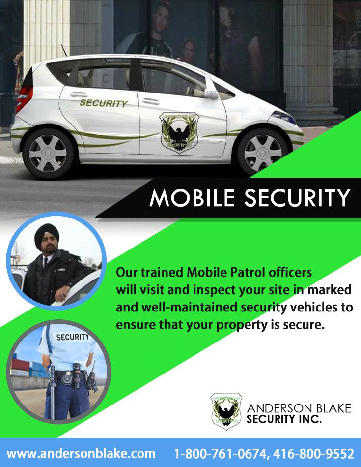 Anderson Blake Security Inc. provides you full protection at any time with #mobile #security #service in #Brampton, #Toronto, #Mississauga. Call at: 1-800-761-0674, 416-800-9552 and visit here: http://goo.gl/VIQsGf