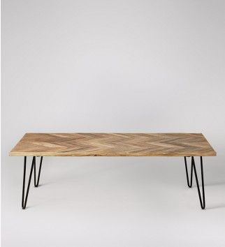 Adriel, Coffee Table, Mango Wood & Black