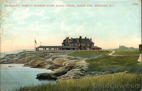 Marsden J Perry's Summer Home, Bleak House, Ocean Avenue, Newport Rhode Island. Demolished after hurricane damage.