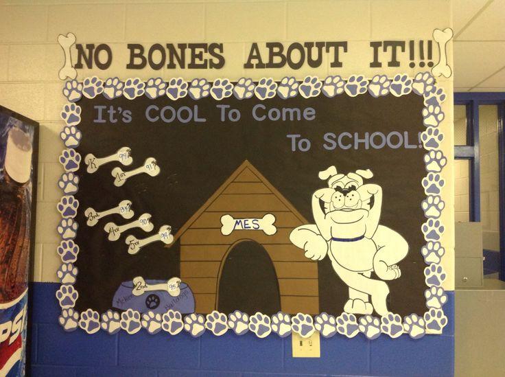 Bulletin Board showing grade level attendance comparisons.