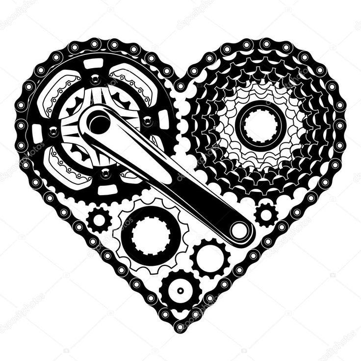 Letöltés - Ciklus része szív alakú — Stock Illusztráció #40318843