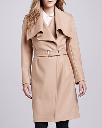Madigan Belted Drape-Front Coat by Ted Baker London at Neiman Marcus.