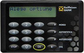 Card reader Raiffeisen Bank