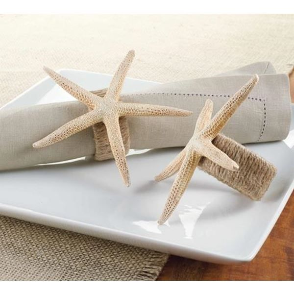 Add a beach theme to your holiday table with our Resin Starfish Jute Wrapped Napkin Rings