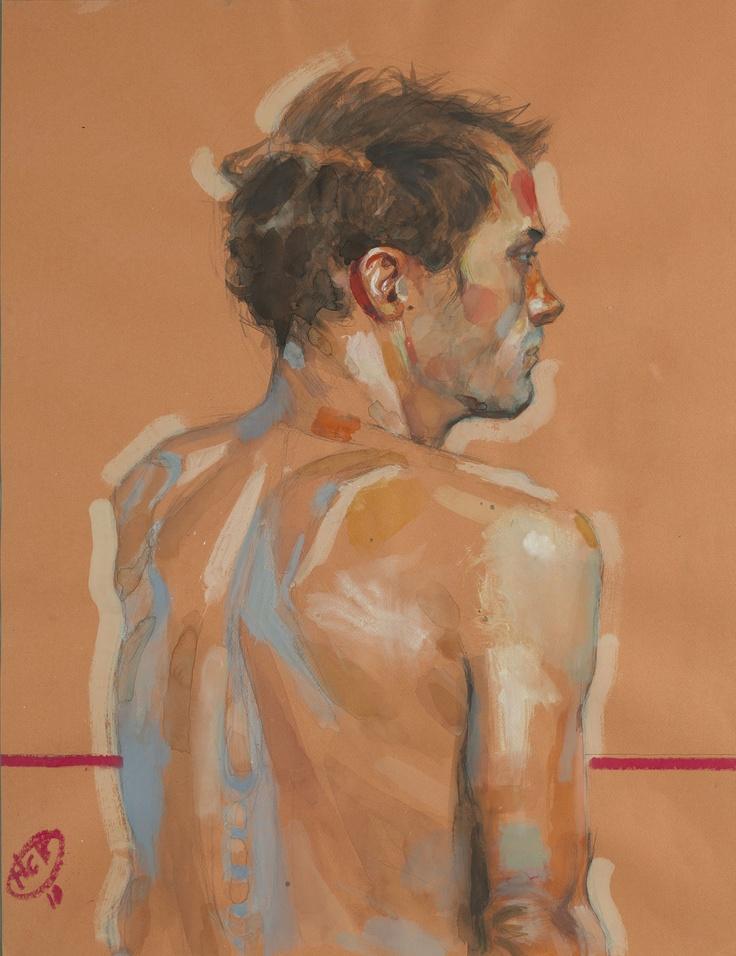 Xavier de Dos - lavis et Pastel Gras sur Papier - 50 x 65 cm