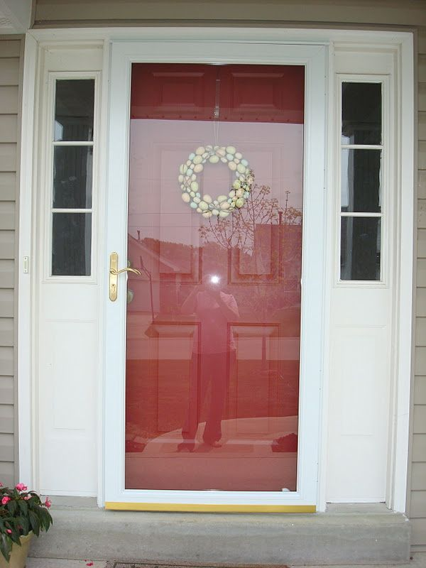 Solid Front Door With No Glass Plus Full Storm Door