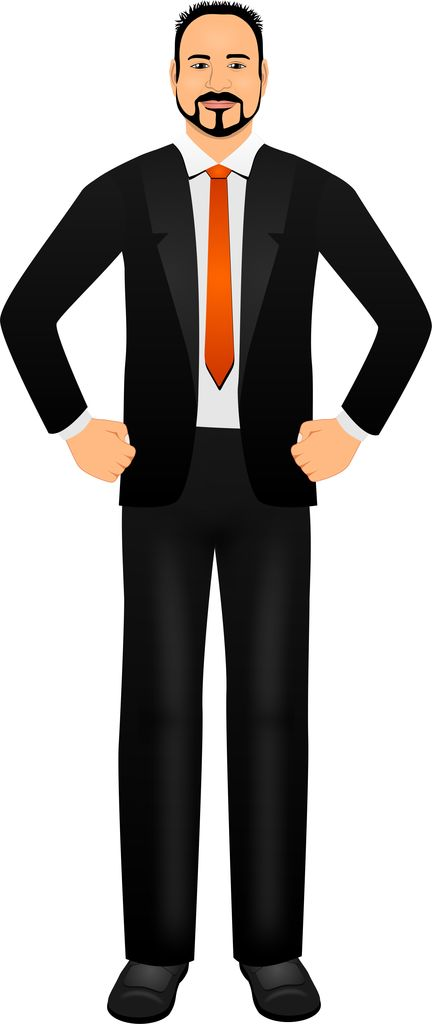 Male avatar - customized illustration for eLearning with Adobe Captivate, Techsmith Camtasia, and Articulate Storyline.