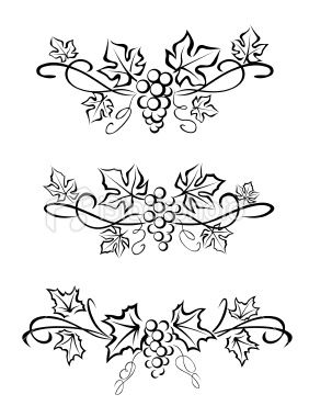 Grape branchs and leaves #tattoo