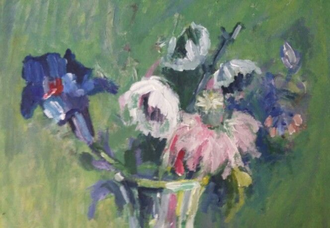 Flori albastre (detaliu)