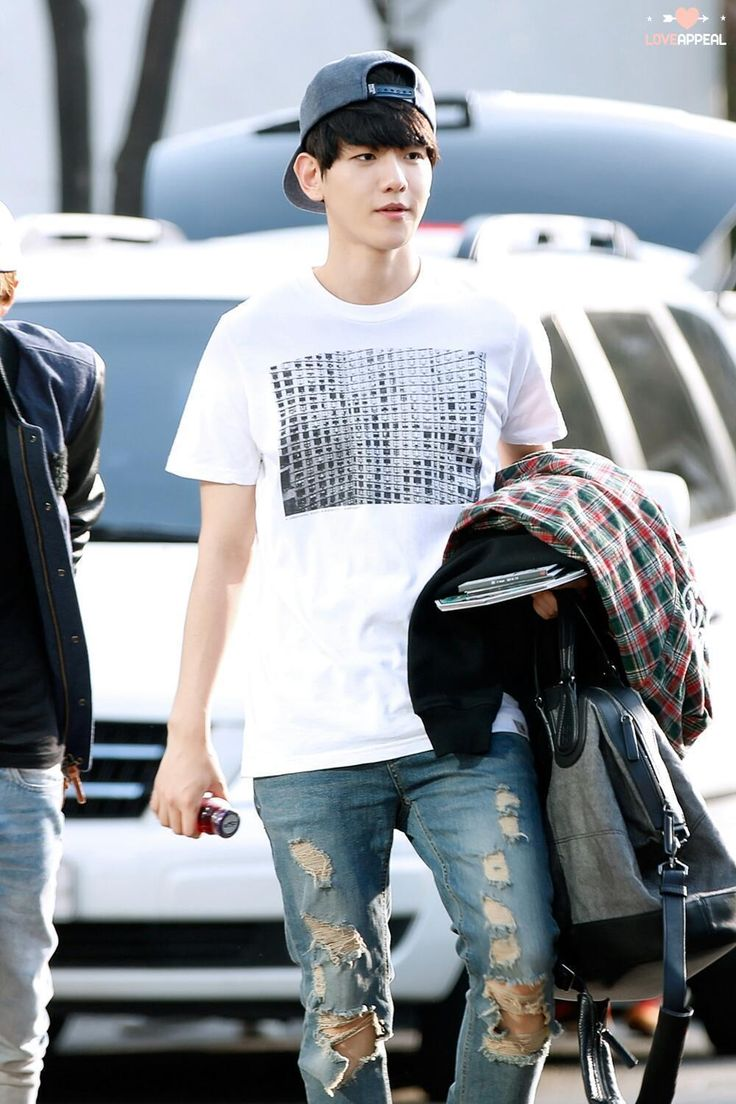 Exo baekhyun airport fashion