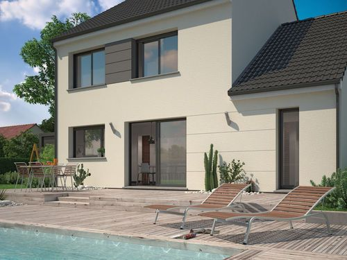 les 25 meilleures idées de la catégorie plan maison 100m2 sur ... - Construire Sa Maison En Ligne Gratuitement