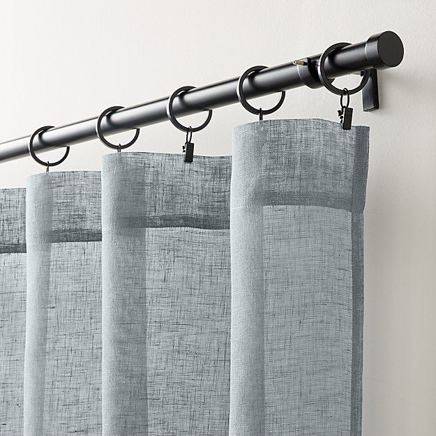 Linen Sheer Lead Curtain Panel Crate And Barrel Sheer Linen