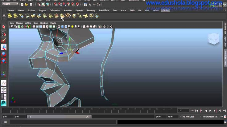 Autodesk Maya Tutorial - Modeling a stylized character (easy) part 1