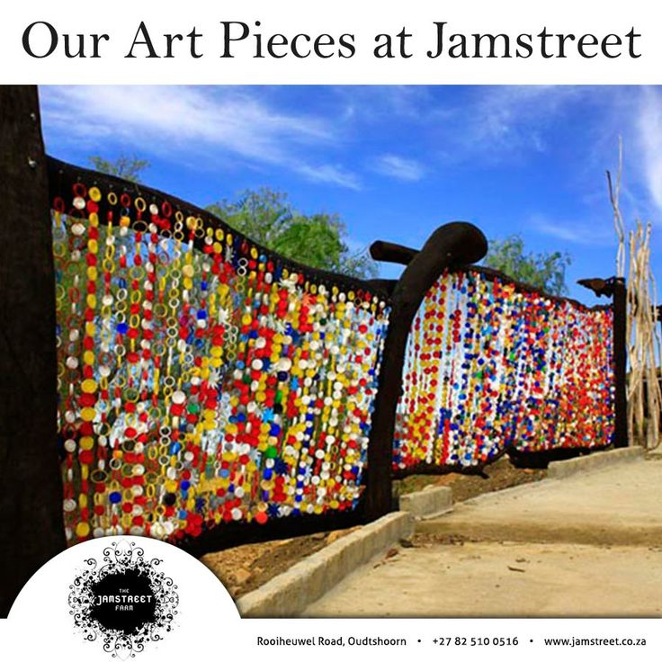 Our Art at Jamstreet! Recycle Fence! Come and visit #Jamstreet and take a look at our Art. Contact us for more info: 082 510 0516 Visit our website: http://besociable.link/iz  #Art #Recycle #Jamstreet