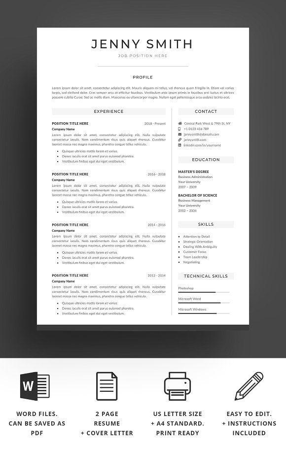 Resume template word modern clean cv by best themes templates on resume template word modern clean cv by best themes templates on graphicsauthor friedricerecipe Gallery