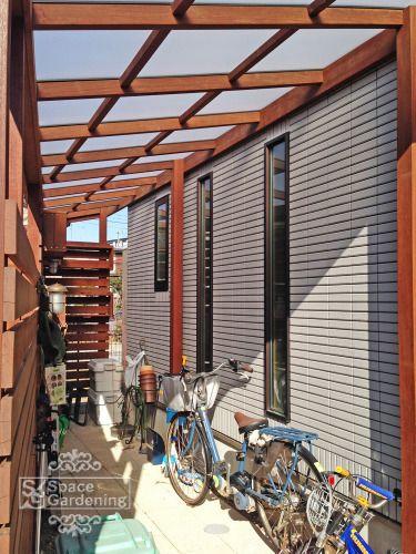 サイクルポート 屋根材 ポリカーボネート