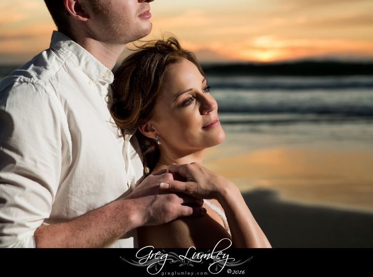 Bride and Groom at a beach wedding in Cape Town by Greg Lumley