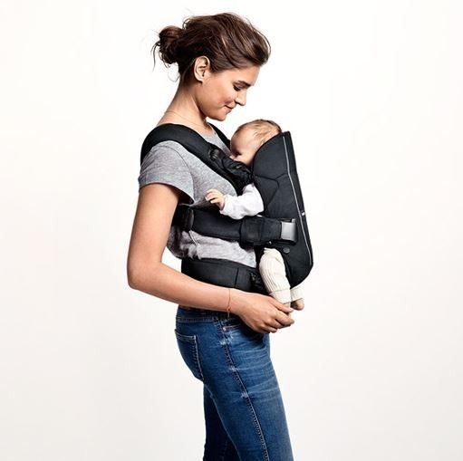 Baby Bjorn 2015 Baby Carrier One in Denim Blue and Blue Cotton Mix | ModernNursery.com