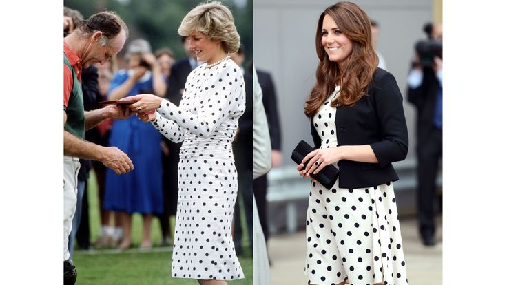 Diana, in Victor Edelstein, awards a prize to Prince Charles' polo manager in 1987; Kate visits the Warner Bros. Studio Tour London in 2013.   - HarpersBAZAAR.com