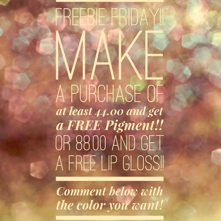 Younique Freebie Friday!!! https://youniqueproducts.com/WendyAllgood