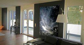 abstrakte bilder kaufen - große Formate als Auftragsmalerei oder im Shop - s/w Bild
