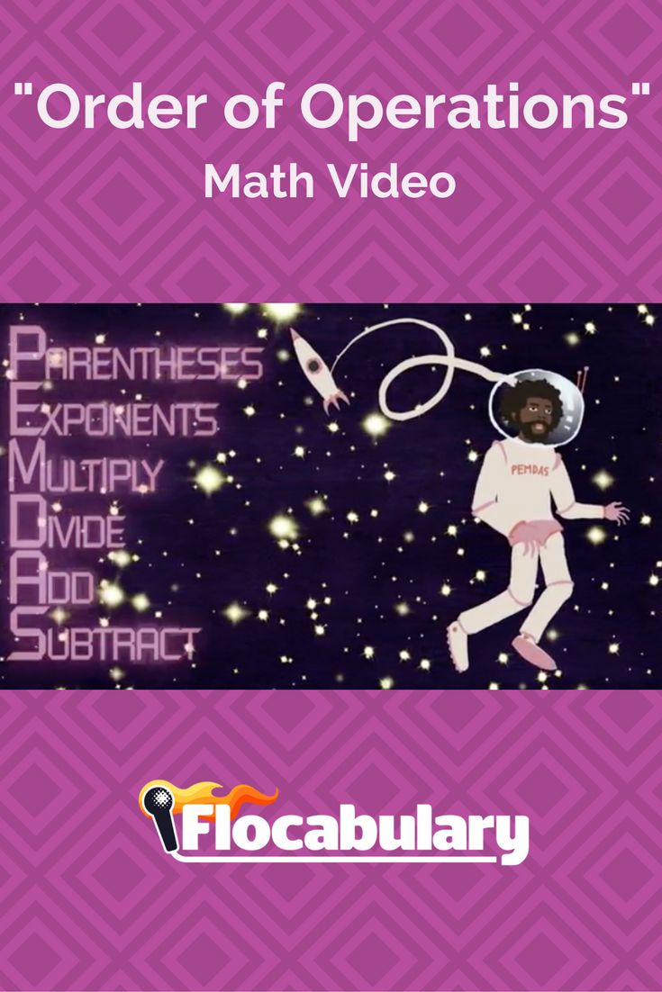 48 best math videos images on pinterest adele curriculum and this video explains the order of operations parentheses exponents multiply divide add and subtract it then shows students how ccuart Choice Image