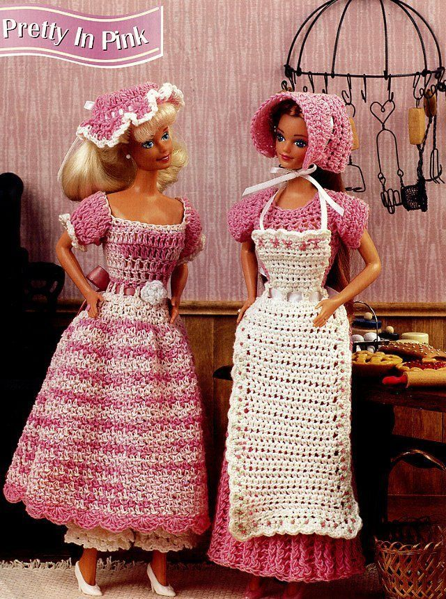 ... In Pink 2 Dresses for Barbie Annies Attic Crochet Pattern Leaflet