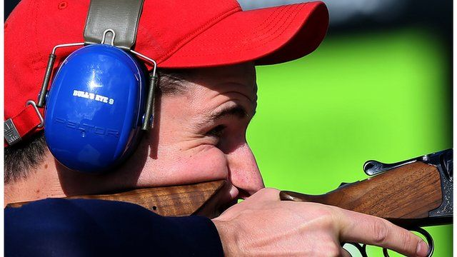 Olympics shooting: GB's Peter Wilson wins double trap gold - Britain's fourth gold medal of the London Olympics with victory in the double trap competition.