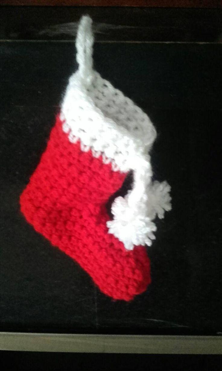 Crochet Christmas stocking, Santa stocking, ornaments, hoilday decorations,  Christmas stockings,  ready to ship by crochetfifi on Etsy