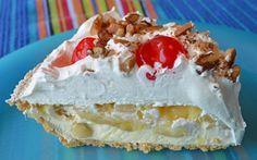 Banana Split Pie Recipe - Now on the Home Style Austin blog. Makes a cool, sweet treat perfect for summer days!