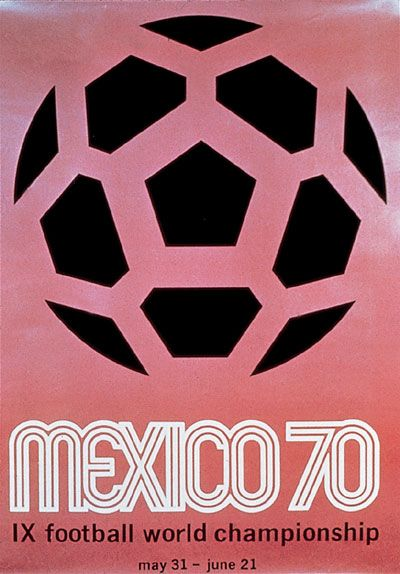 1970 World Cup Mexico Poster #soccer #football