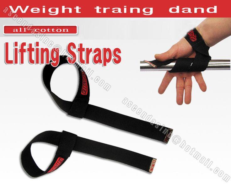 Poids de coton sangles de levage poignet main Bar soutien bracelet puissance de levage Bodybuilding dragonnes