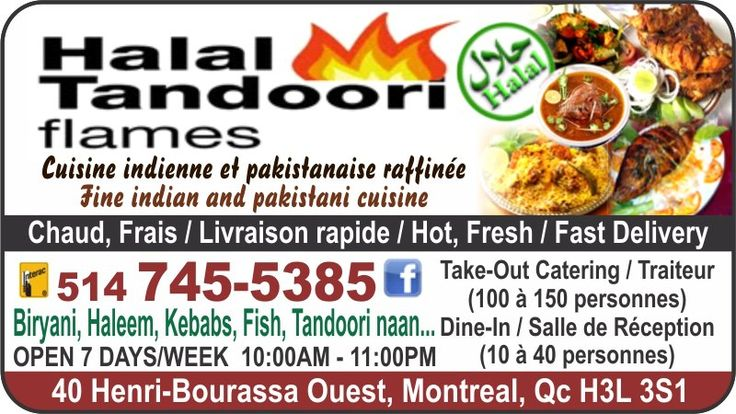 Halal Tandoori flames thrives on bringing you authentic Indian meals right to your door step. With mouth watering dishes that are made using traditional methods, you are bound to be feeling heat from Halal Tandoori Flames. Halal Tandoori Flames brings you all the traditional dishes such as Samosa's, Pakoras, Naan, Kebab's, Butter Chicken, Tandoori Dishes, Biryani, and fantastic options for Vegetarians! Get it now with fantastic combo options and also Breakffast options and salads too!
