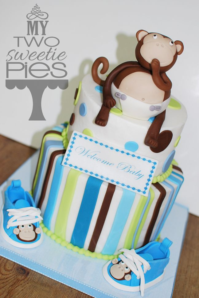 Monkey baby shower theme for a boy