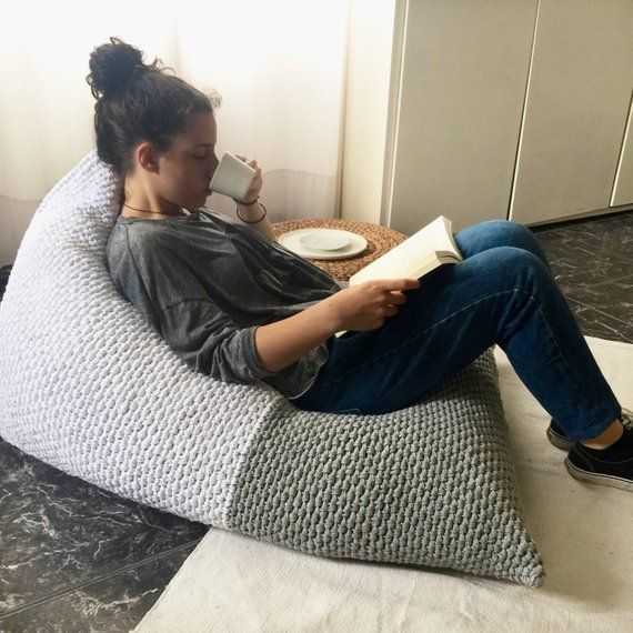 Adult Bean Bag Chair Lounger Giant Floor Pillow Pouf Large