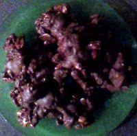 Saskia's knutsel blog: Chocolate Peanut/Rice Pop Cookies