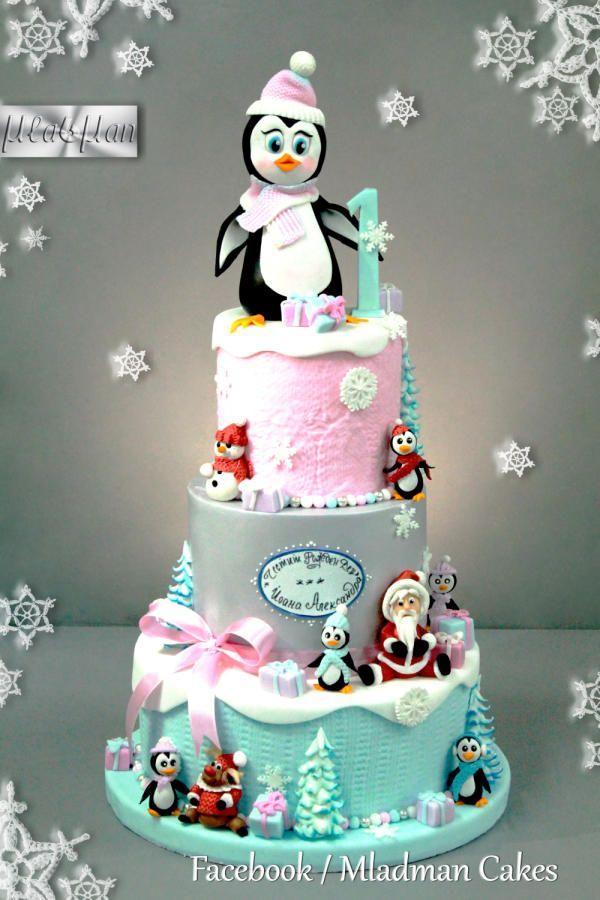 Pinguin Christmas Cake by MLADMAN