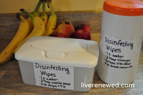 Homemade Reusable Disinfecting Wipes! (don't spend lots of $$ on buying Clorox Wipes when you can make your own that is a LOT safer!)