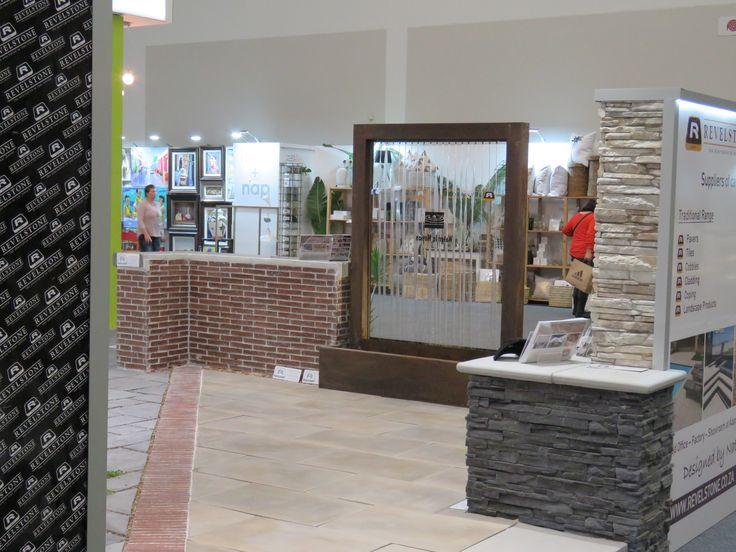 Product on show - Saxon cladding, Klompie brick paver, Jura straight edge pavers.