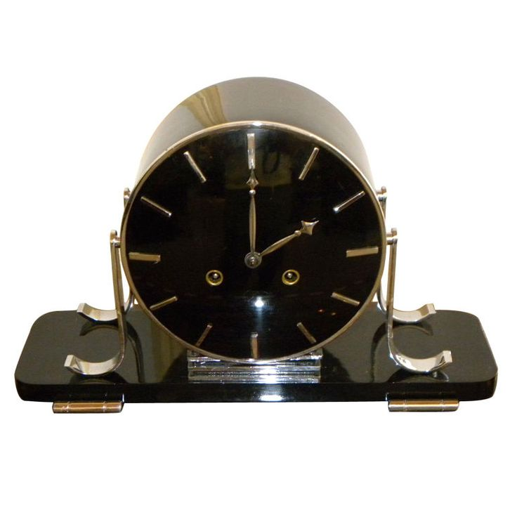 Stunning Modernist style Art Deco mantle Clock | From a unique collection of antique and modern clocks at https://www.1stdibs.com/furniture/more-furniture-collectibles/clocks/
