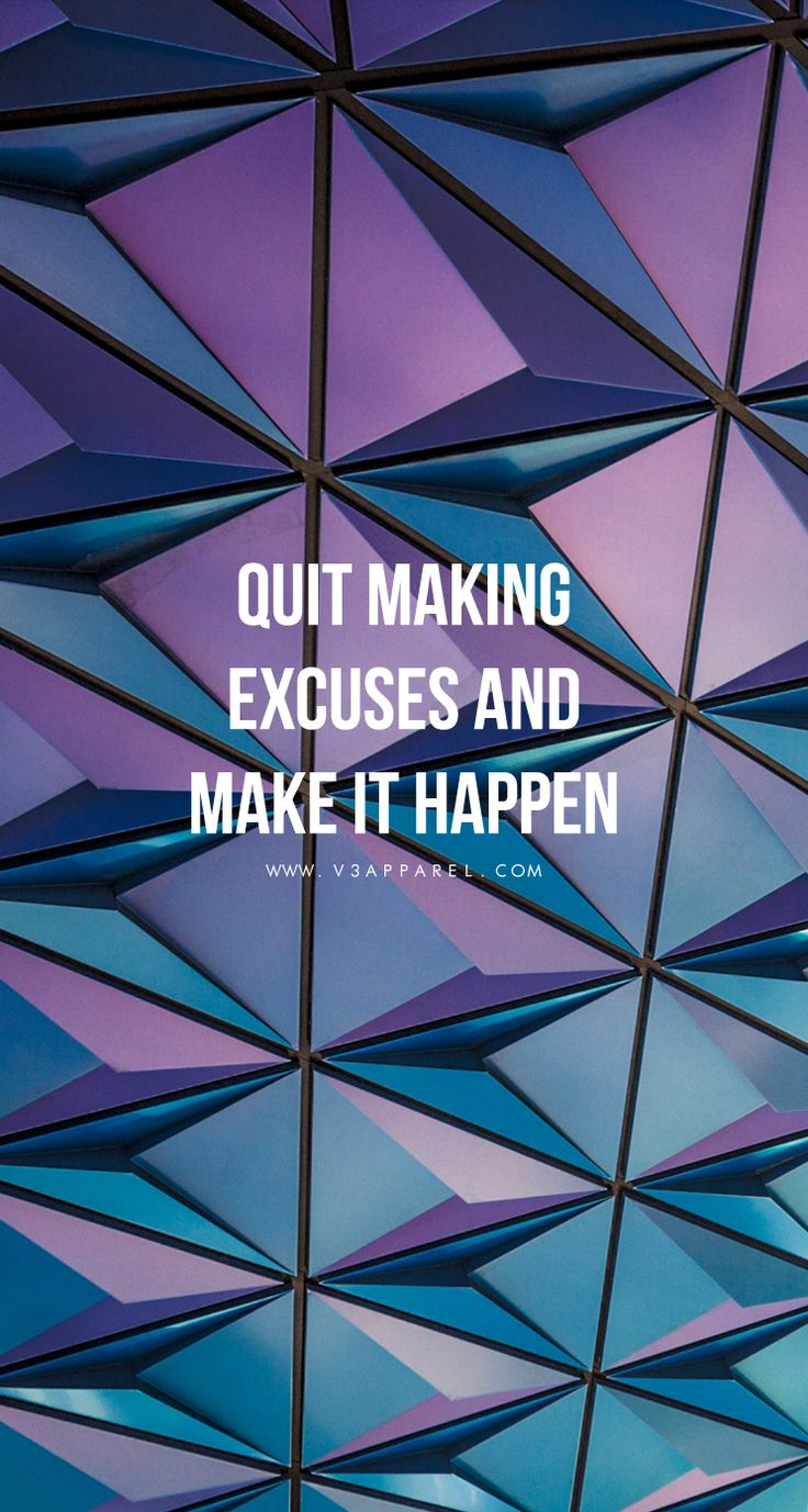 Make progress, not excuses!  Head over to www.V3Apparel.com/MadeToMotivate to download this wallpaper and many more for motivation on the go! / Fitness Motivation / Workout Quotes / Gym Inspiration / Motivational Quotes / Motivation