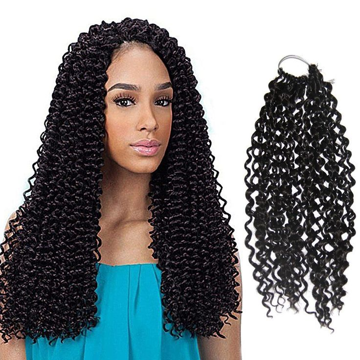 14'' Synthetic Water Wave Braids Latch Hook Crochet Hair Extensions 16 Strands #Dsoar #BraidHairExtension