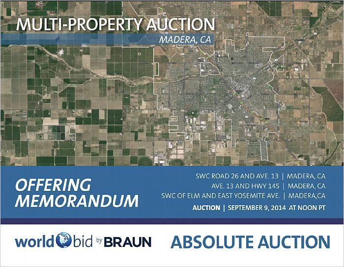 Absolute Auction of Three Commercial Properties in Madera County --- http://emailflyers.net/38677
