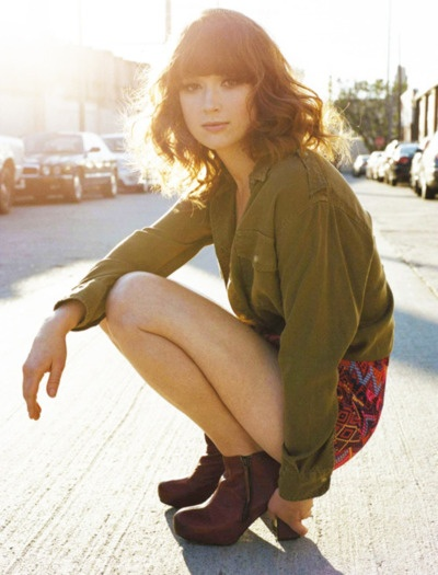 Ellie Kemper from the office looking edgy