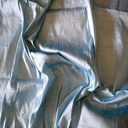 Light Blue 100 Percent Pure Silk Dupioni Fabric  1 by FabricMart, $18.90